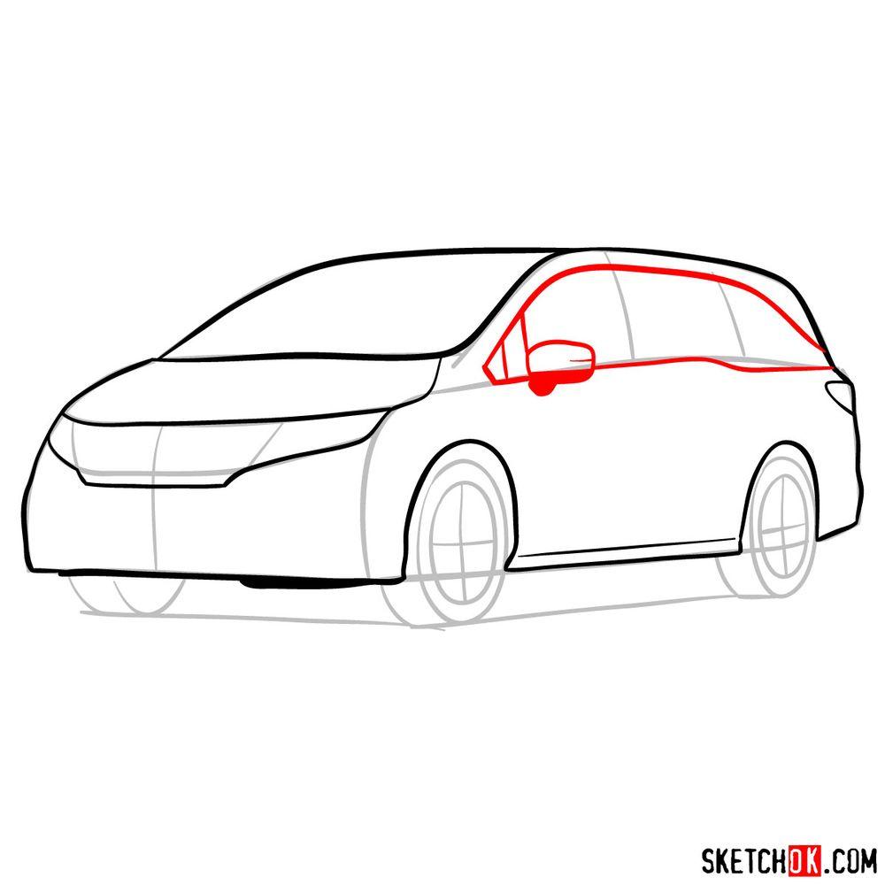 How to draw the 2020 Honda Odyssey Elite - step 08
