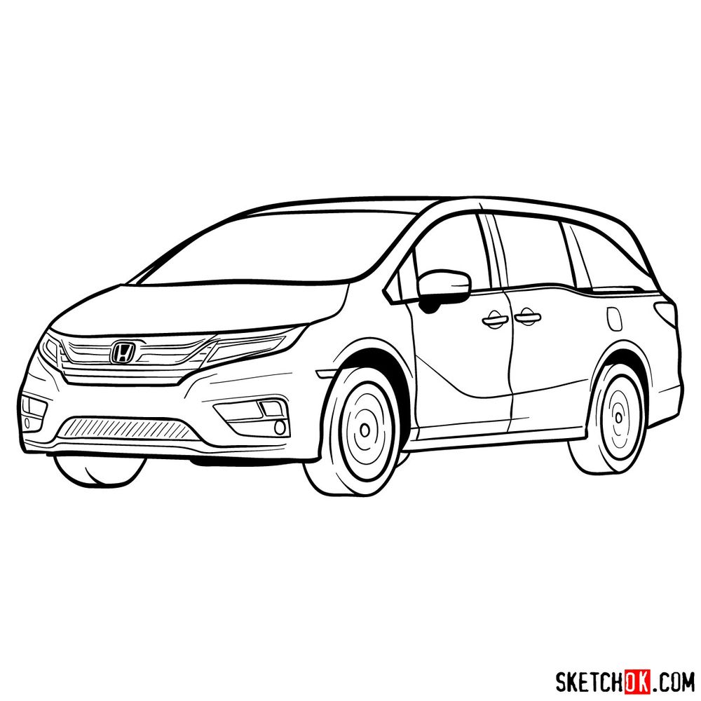 How to draw the 2020 Honda Odyssey Elite