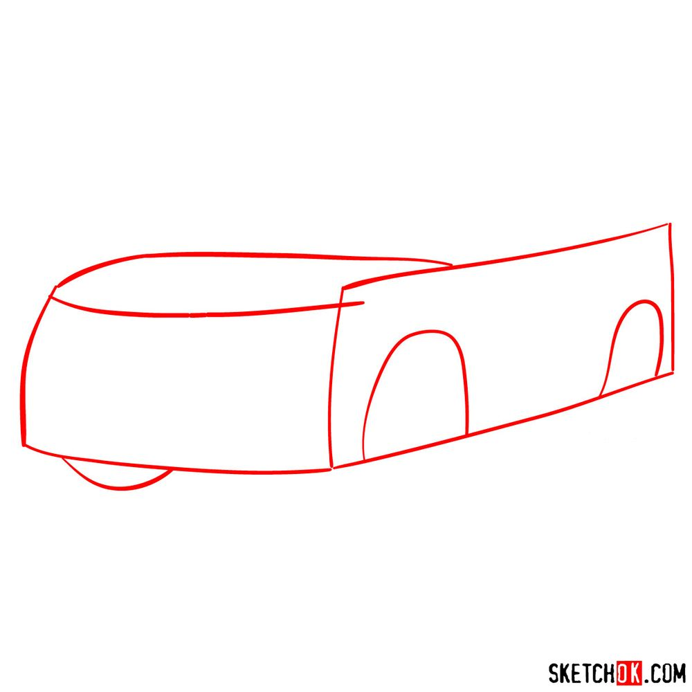 How to draw 2020 Honda Pilot  - step 01
