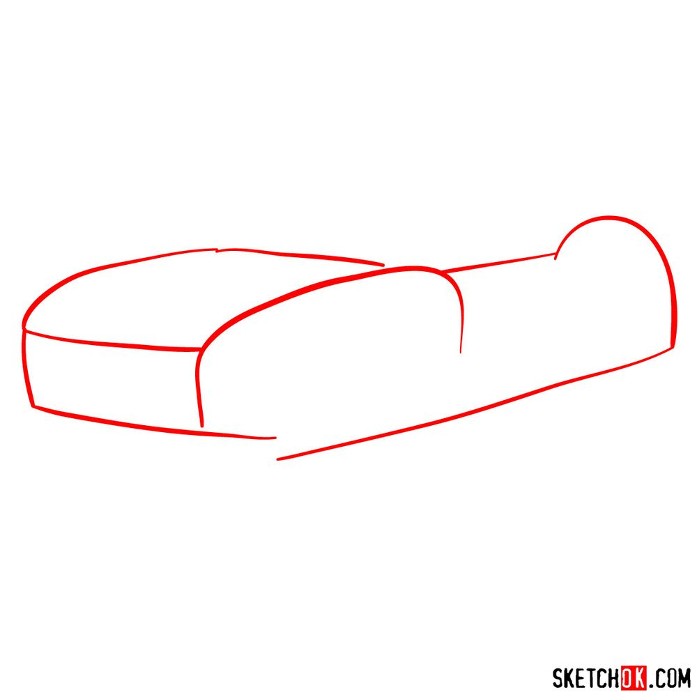 How to draw a Rally Fighter car - step 01