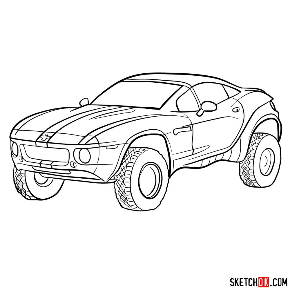 How to draw a Rally Fighter car