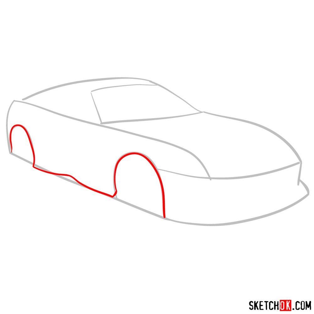 How to draw 1993 Toyota Supra - step 03