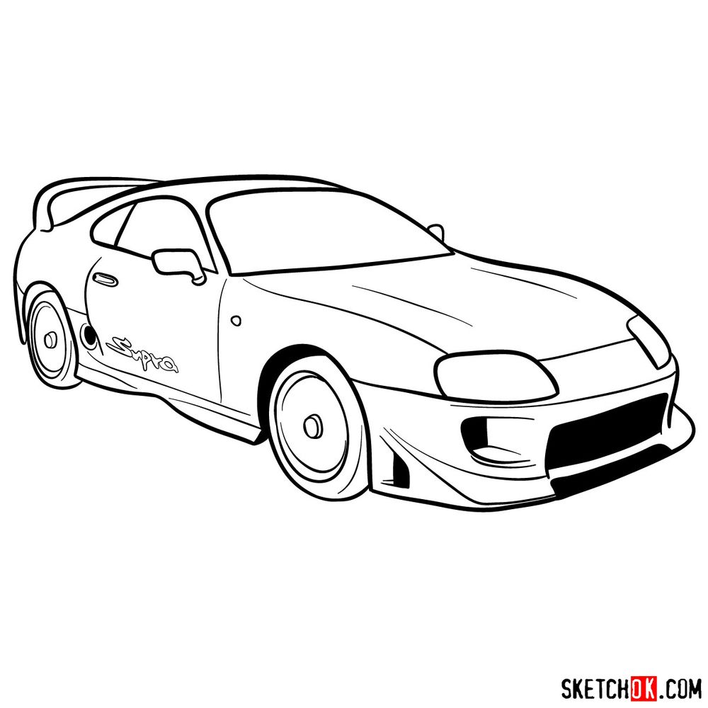 How to draw 1993 Toyota Supra