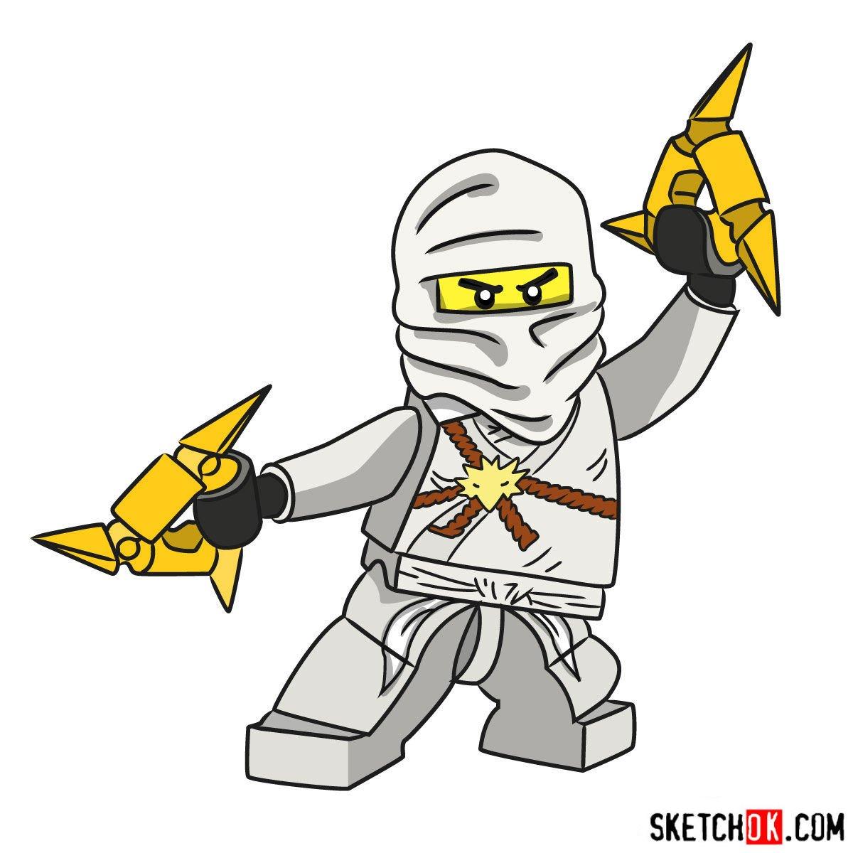 Lego Ninjago Step By Step Drawing Tutorials