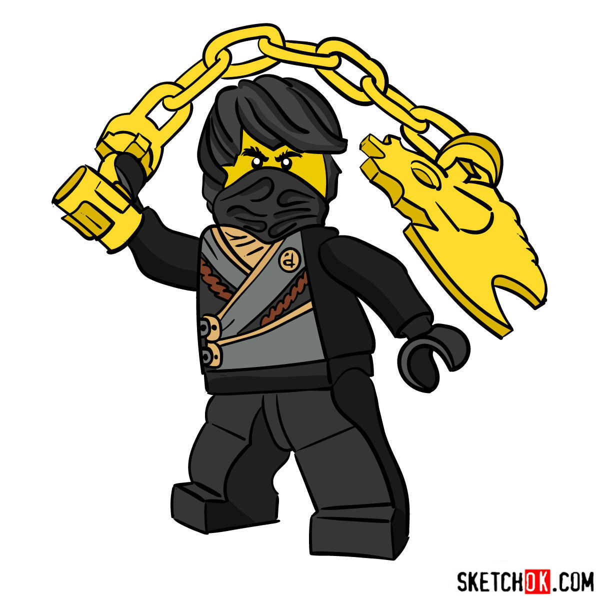How to draw Cole Ninjago - coloring