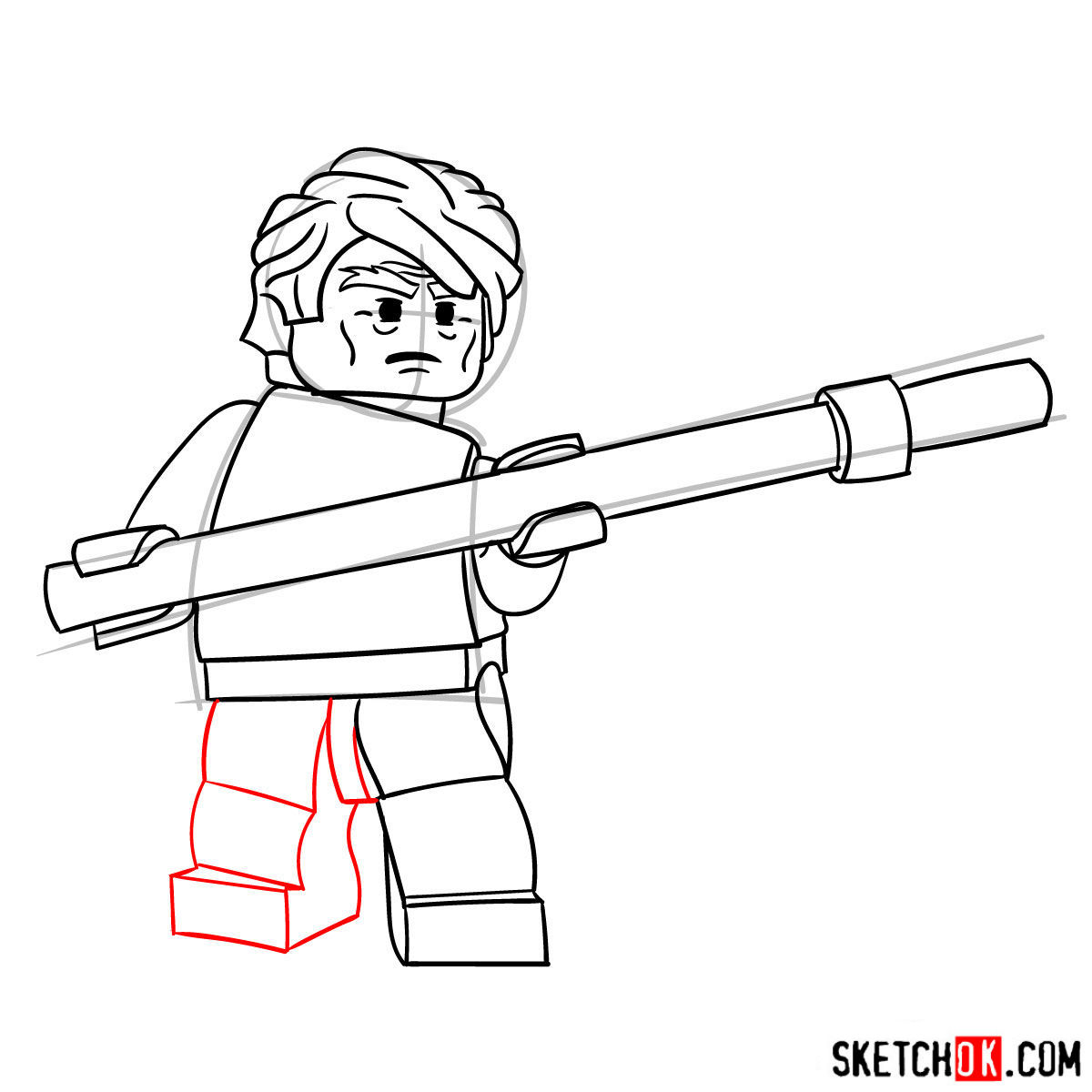 How to draw Sensei Garmadon - step 08
