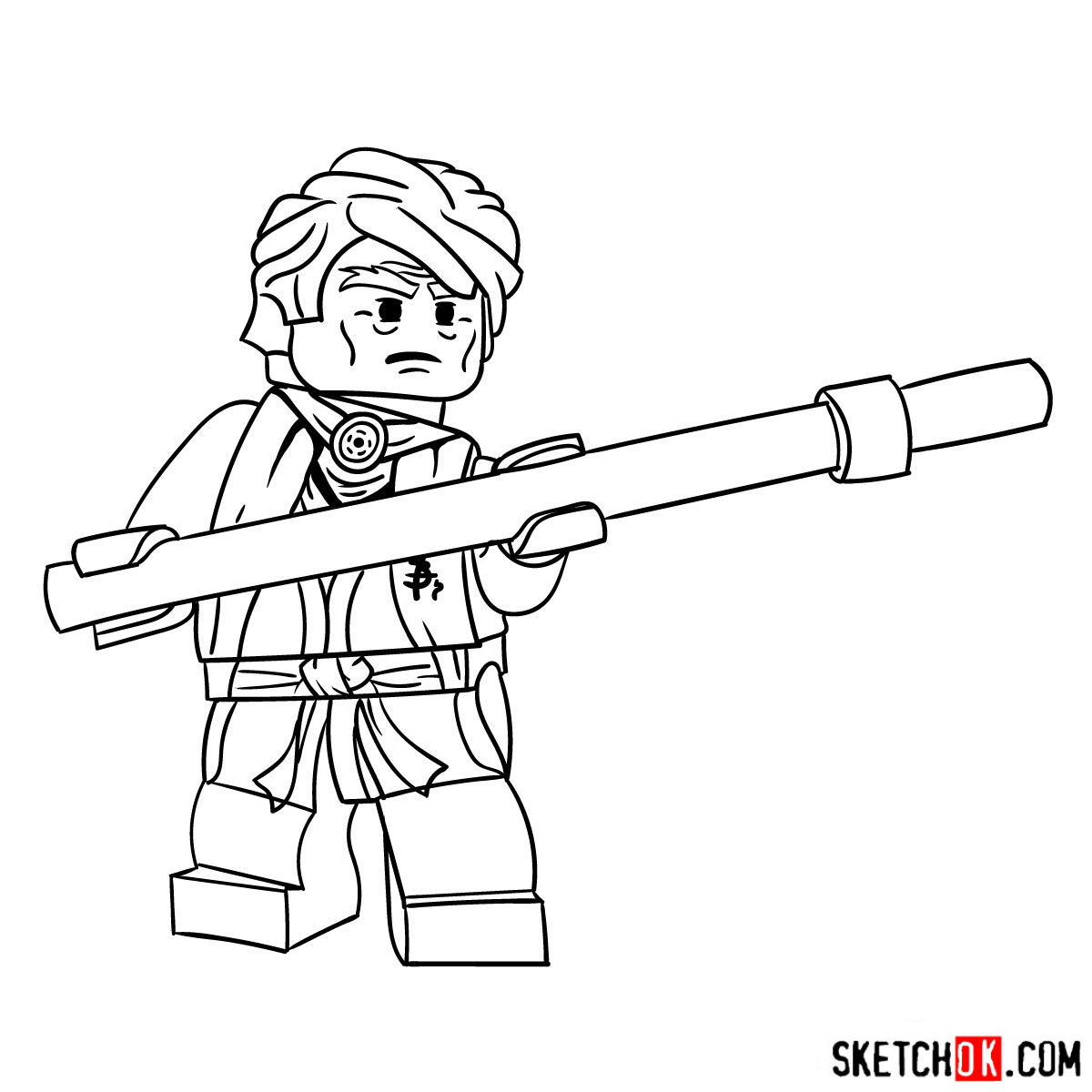 How to draw Sensei Garmadon - step 10