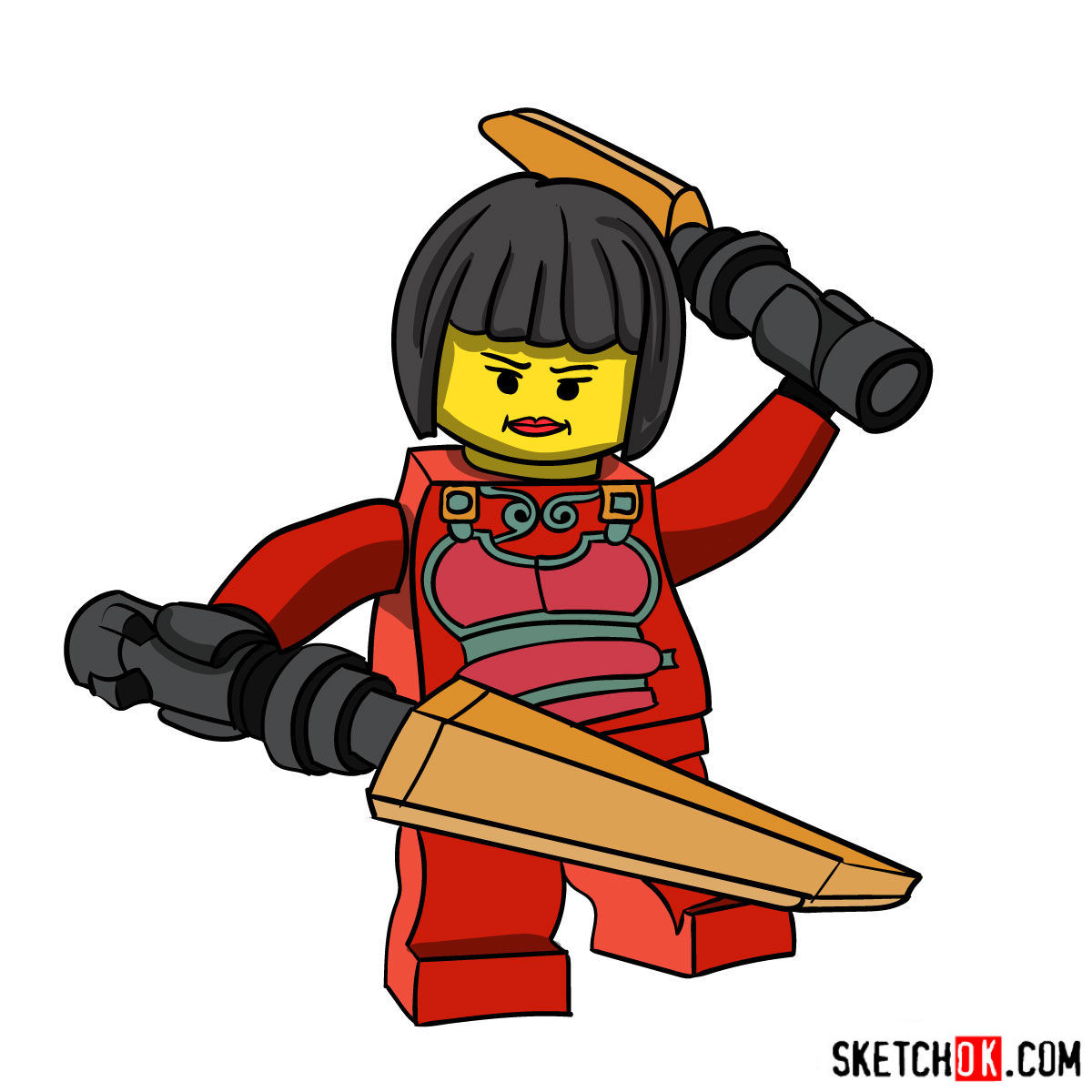 How to draw Nya NinjaGO