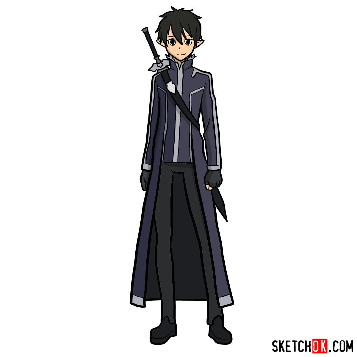 How to draw Kirito (Kirigaya Kazuto)