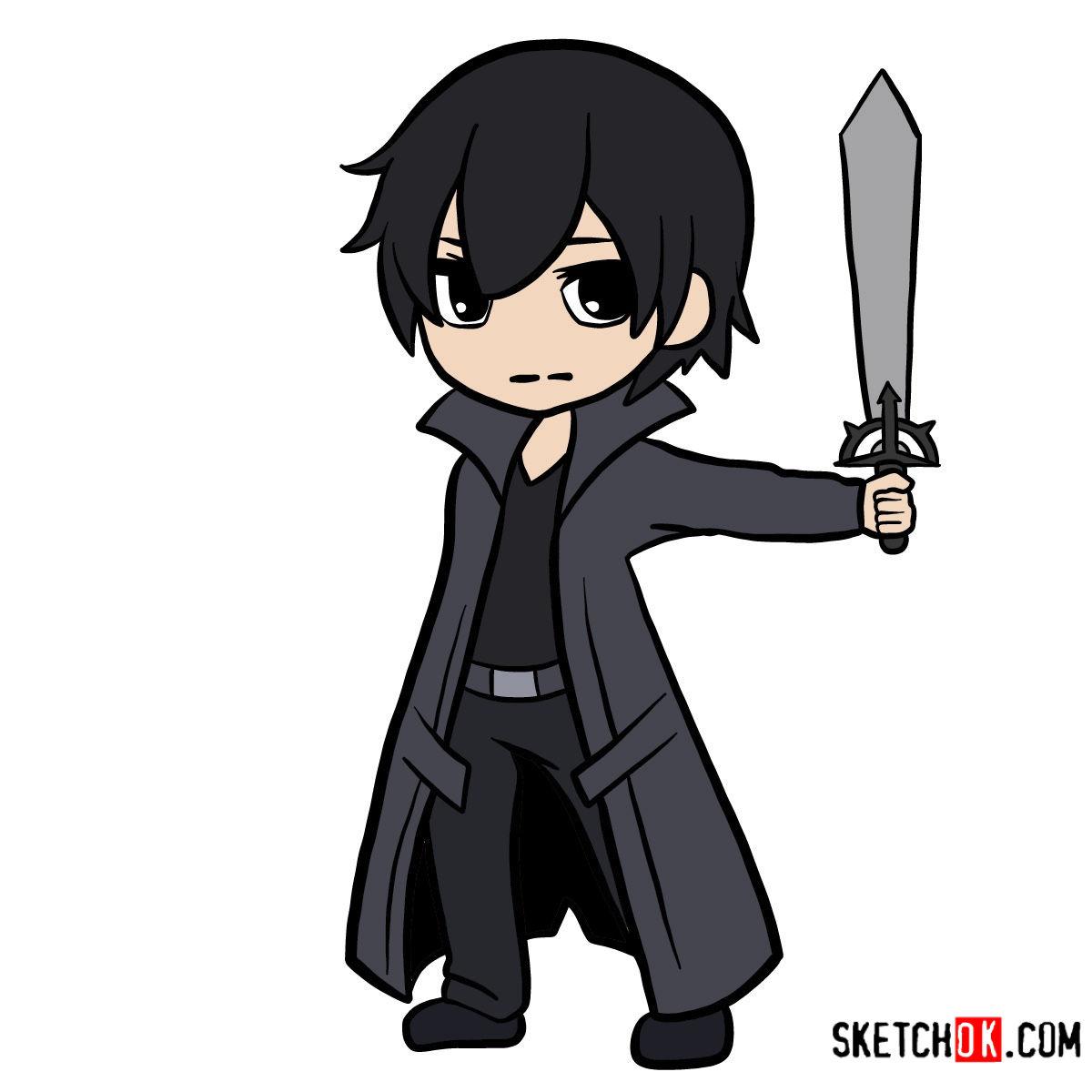 How to draw Kirito chibi | Sword art Online