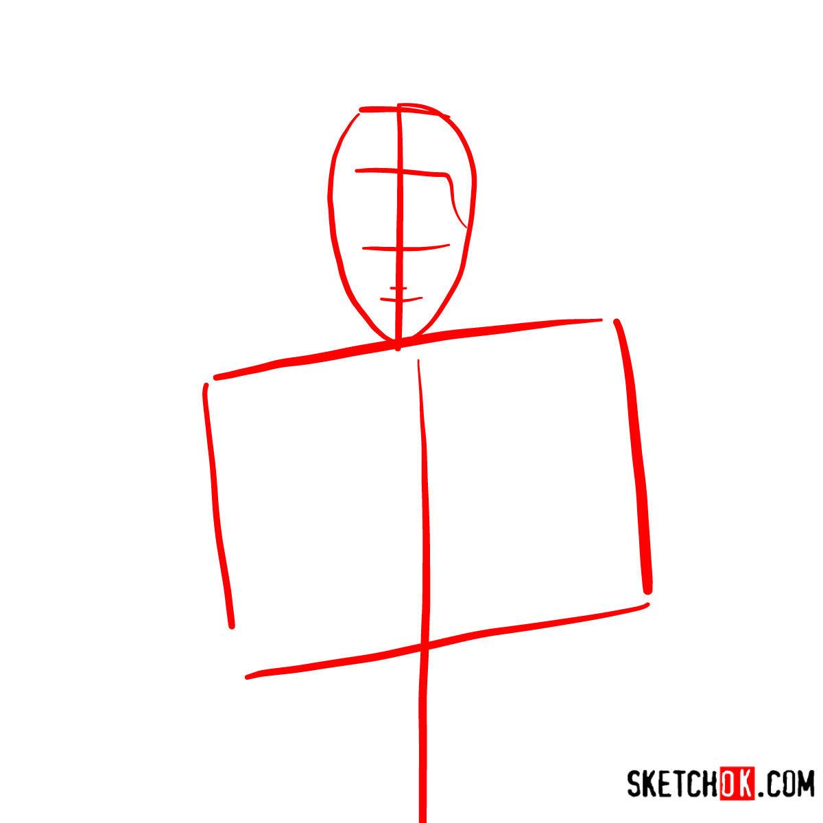 How to draw Roronoa Zoro with swords | One Piece - step 01