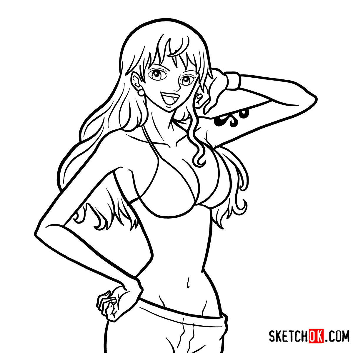 How to draw Nami | One Piece