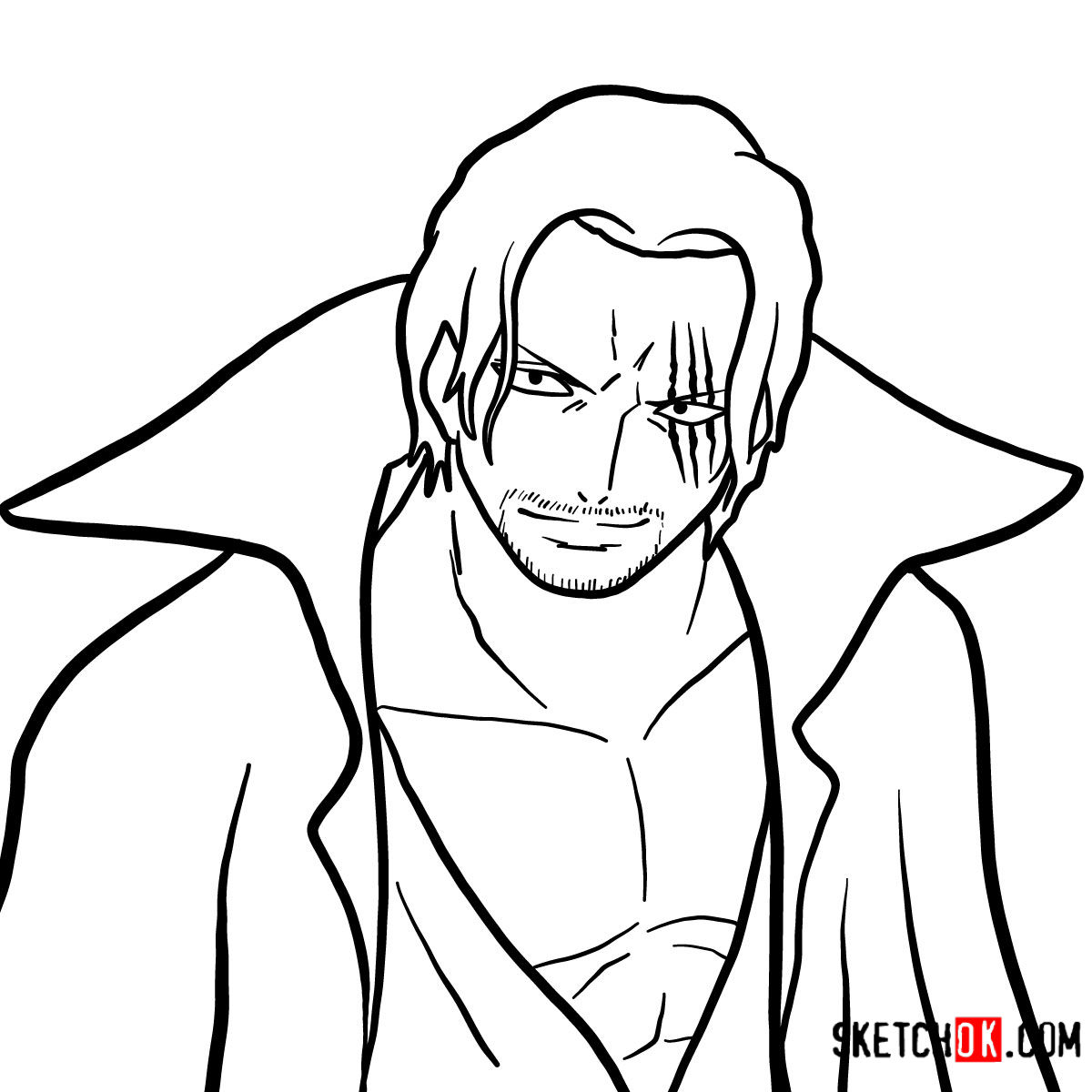 How to draw Shanks | One Piece