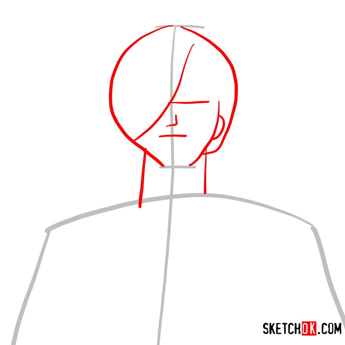 How to draw Sanji   One Piece - step 02