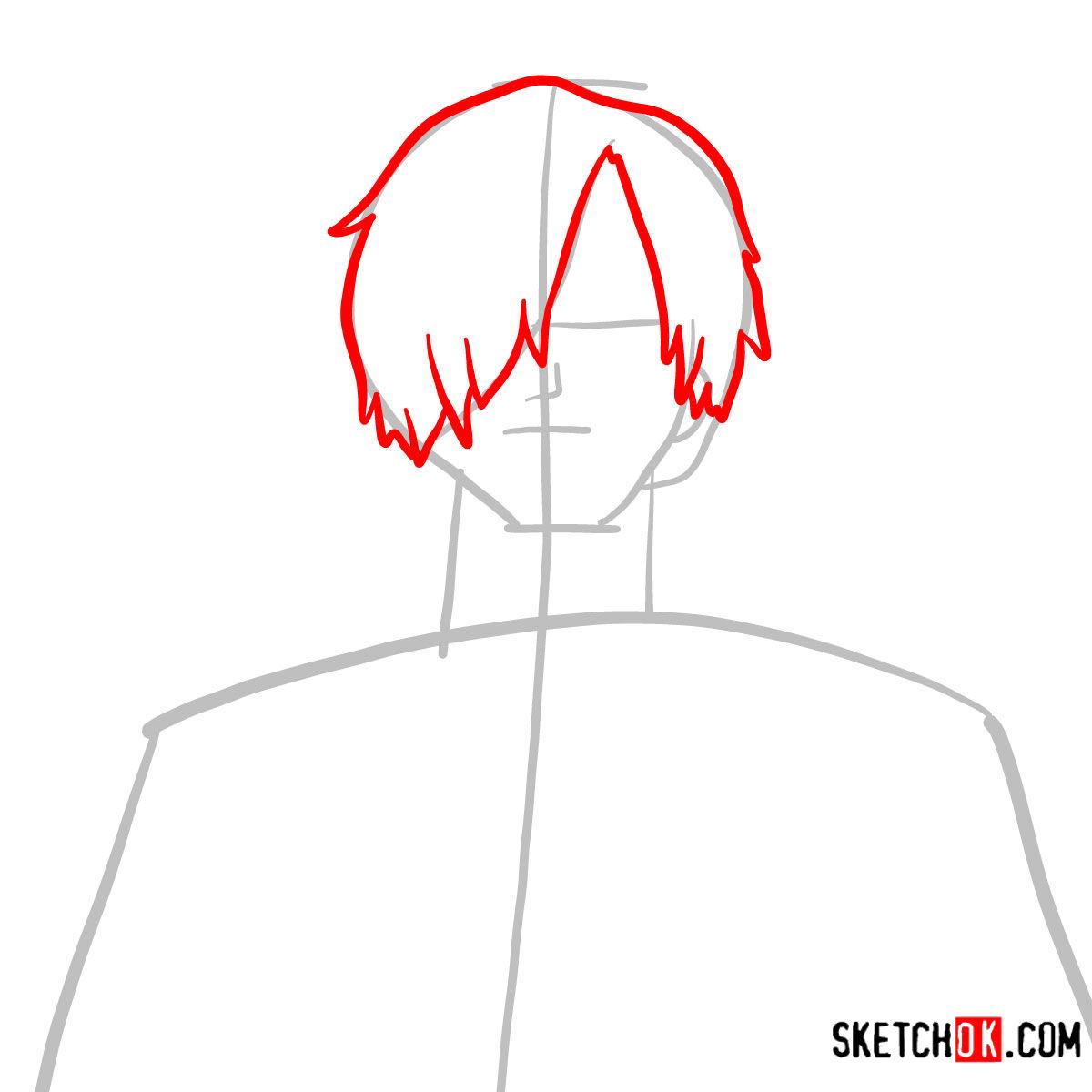 How to draw Sanji   One Piece - step 03