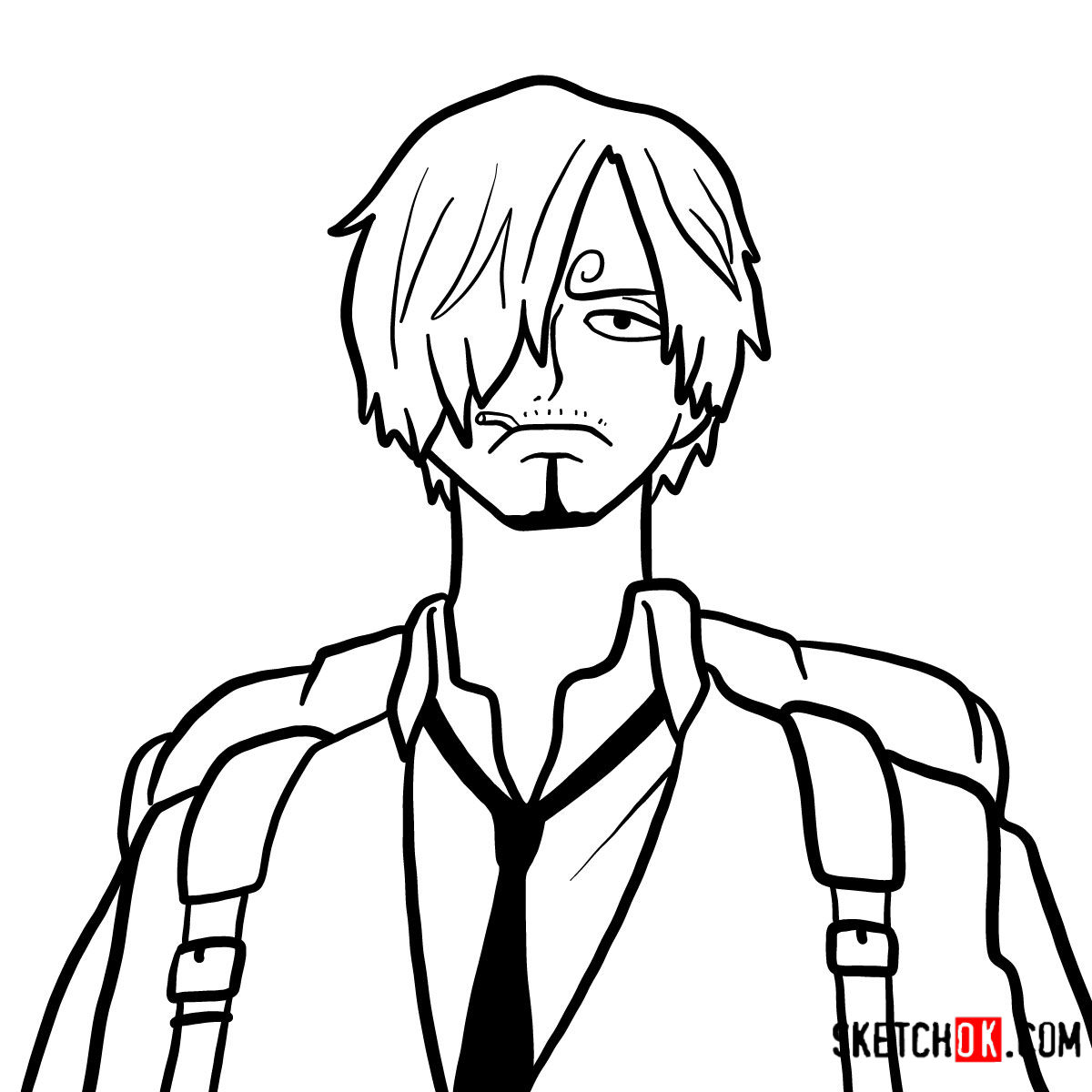 How to draw Sanji | One Piece