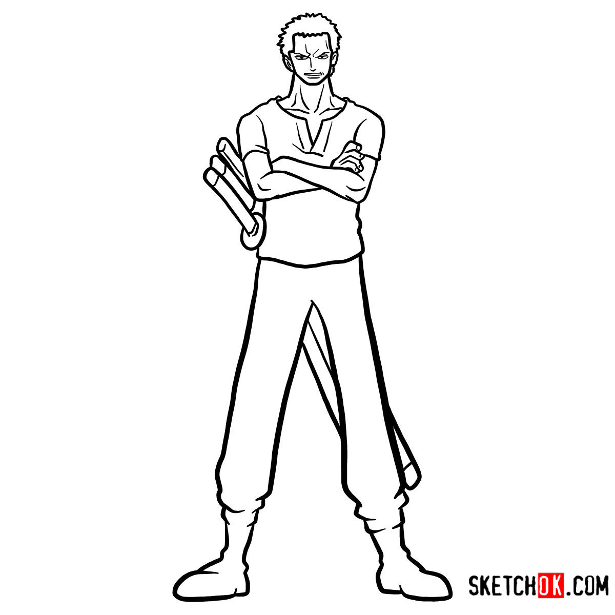 How to draw Roronoa Zoro full growth | One Piece