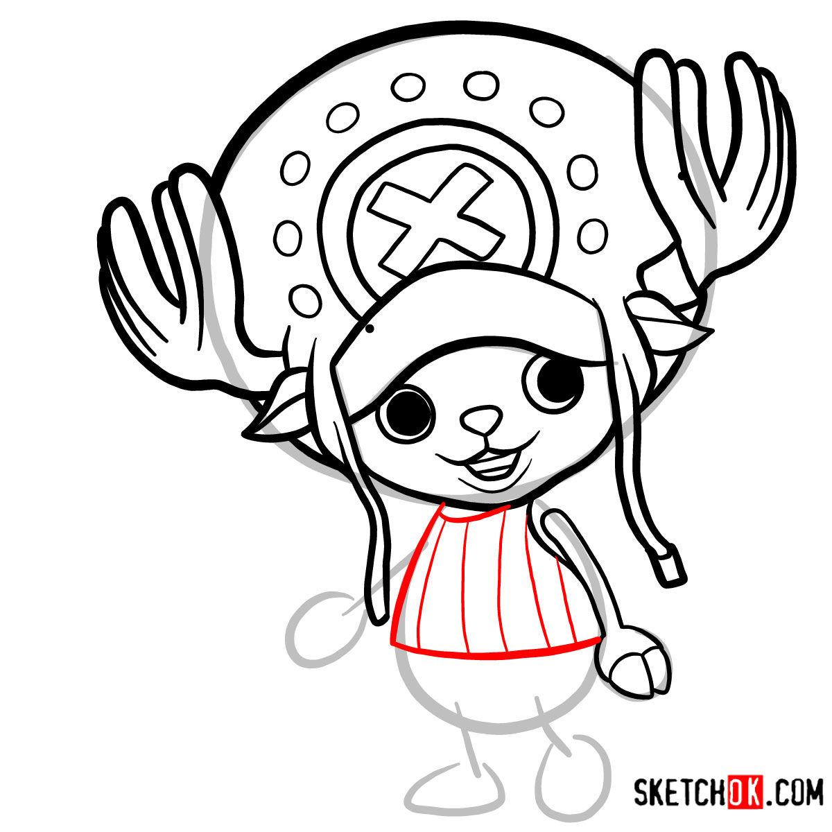 How to draw Tony Tony Chopper   One Piece - step 07