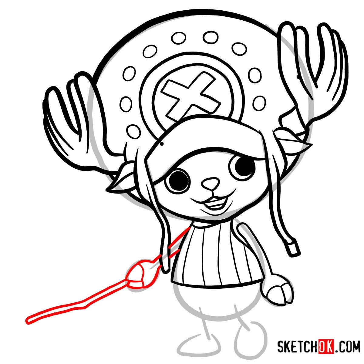 How to draw Tony Tony Chopper   One Piece - step 08