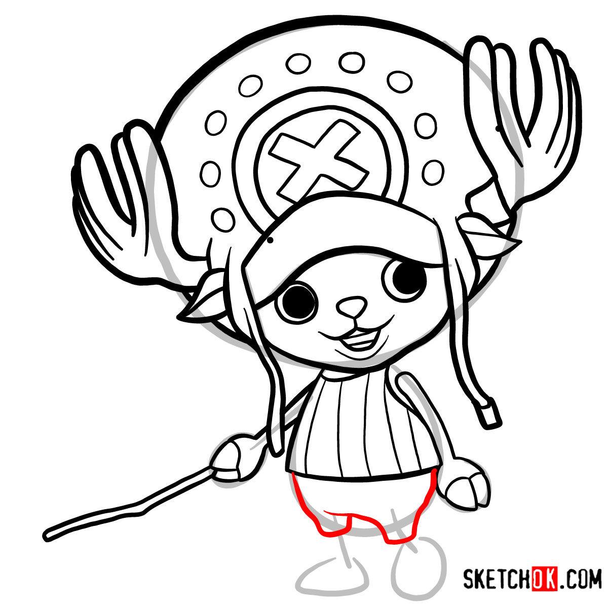 How to draw Tony Tony Chopper   One Piece - step 09