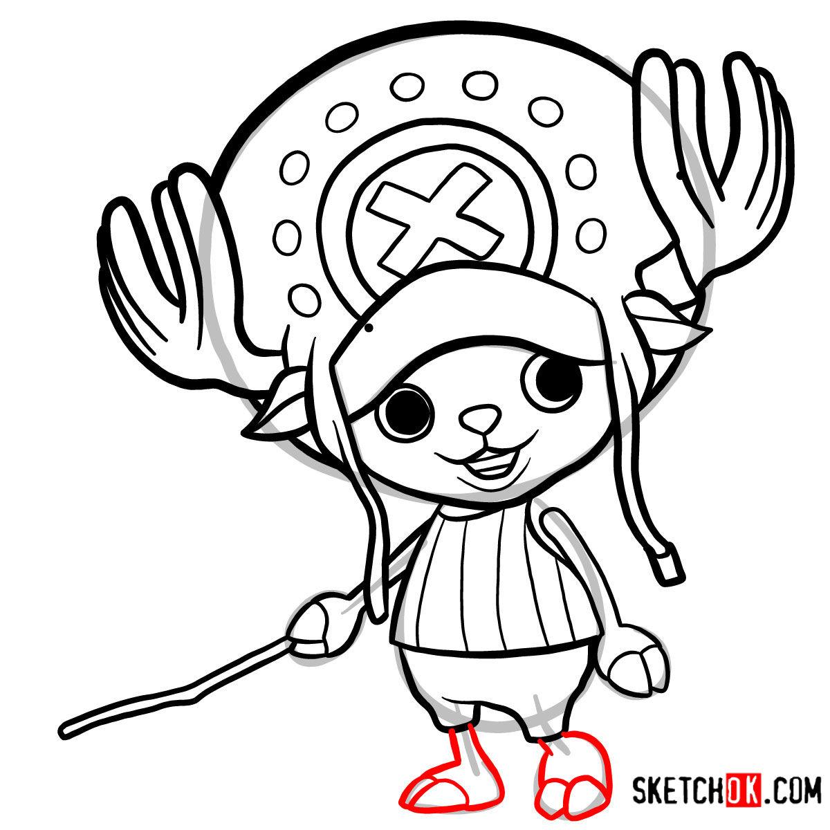 How to draw Tony Tony Chopper   One Piece - step 10
