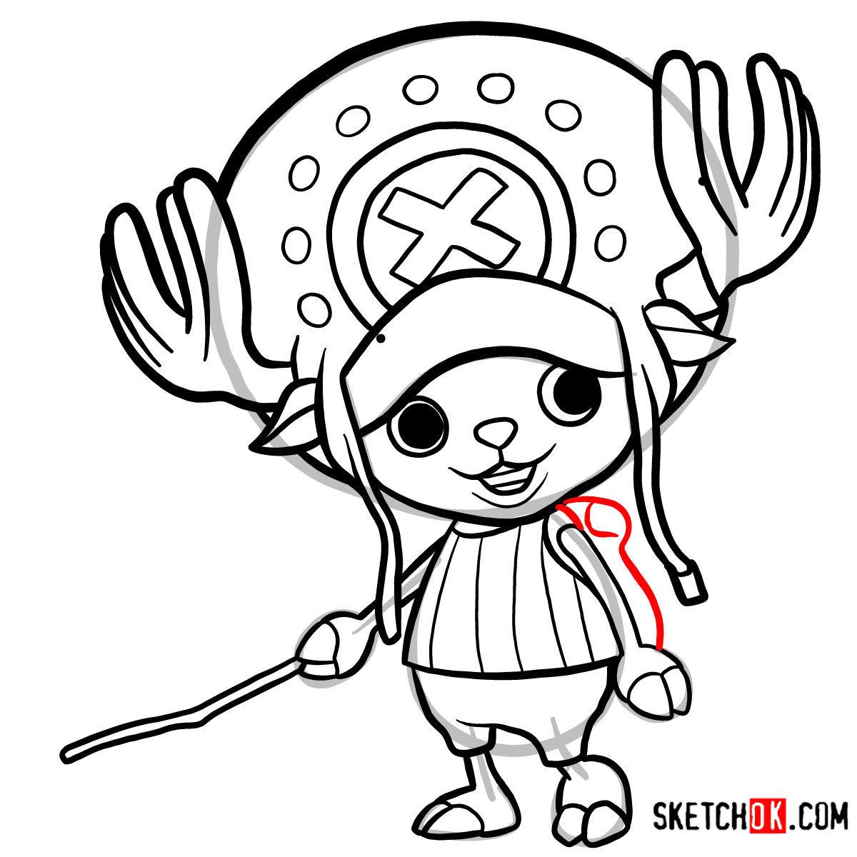 How to draw Tony Tony Chopper   One Piece - step 11