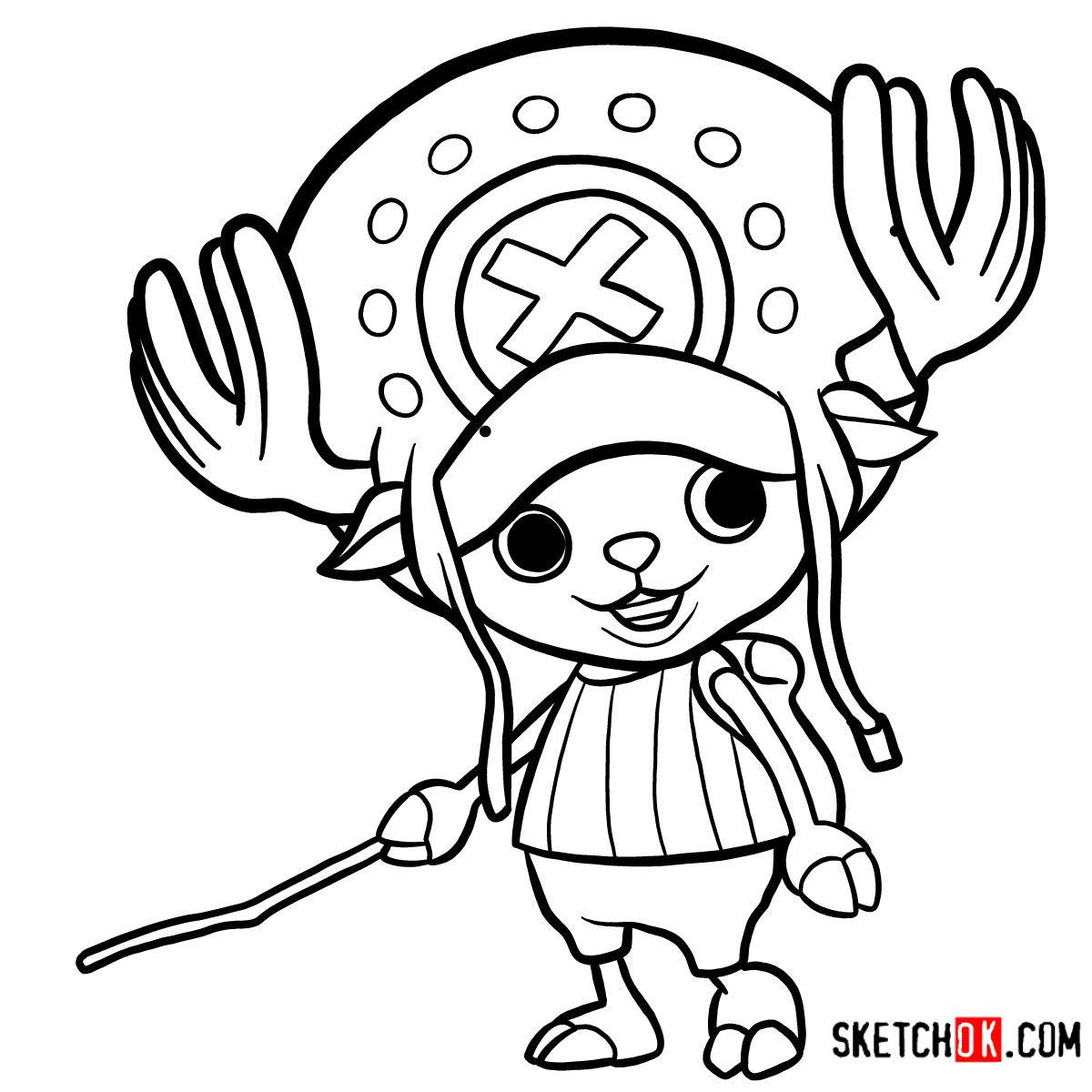 How to draw Tony Tony Chopper   One Piece - step 12