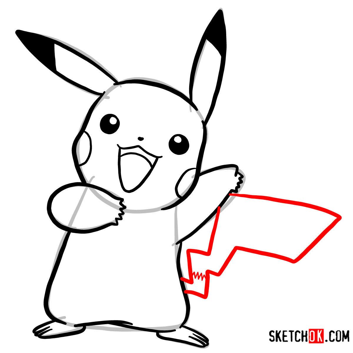How to draw Happy Pikachu | Pokemon - Step by step drawing ...