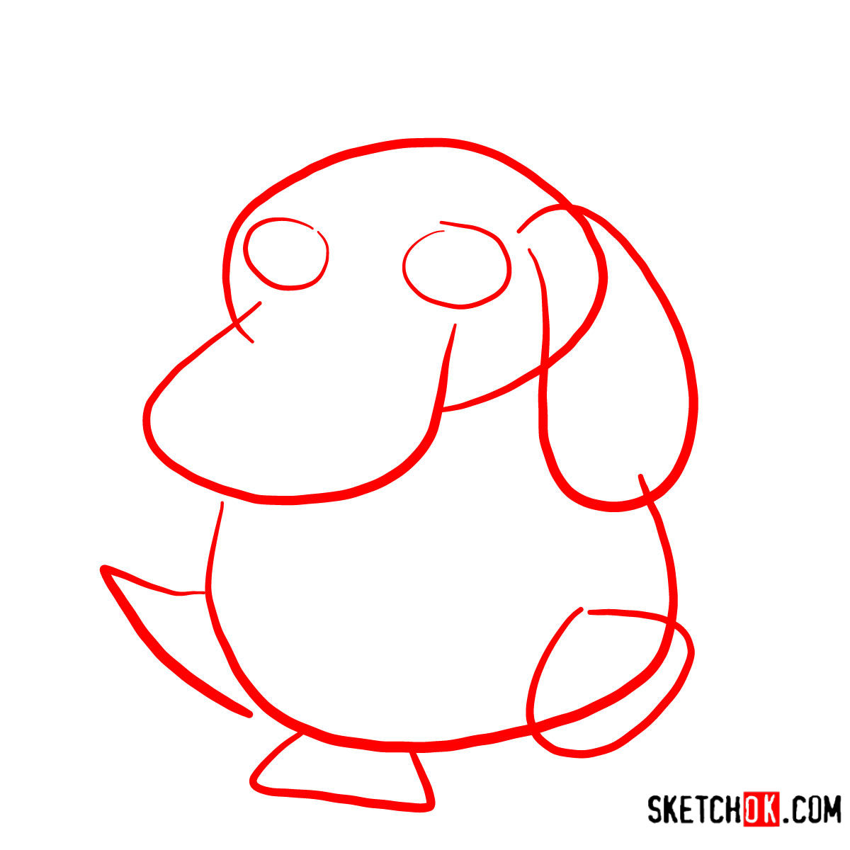 How to draw Psyduck | Pokemon - step 01