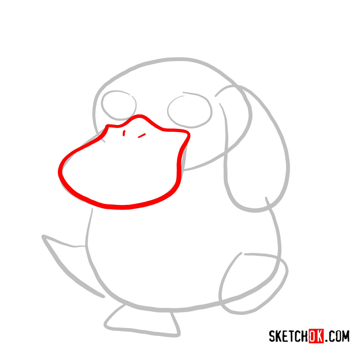 How to draw Psyduck | Pokemon - step 02