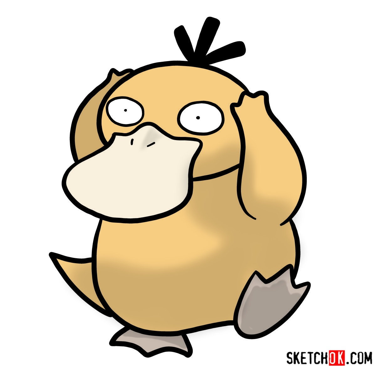 How to draw Psyduck | Pokemon