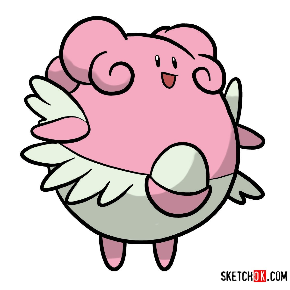How to draw Blissey | Pokemon