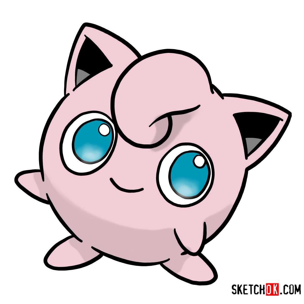 How to draw Jigglypuff | Pokemon