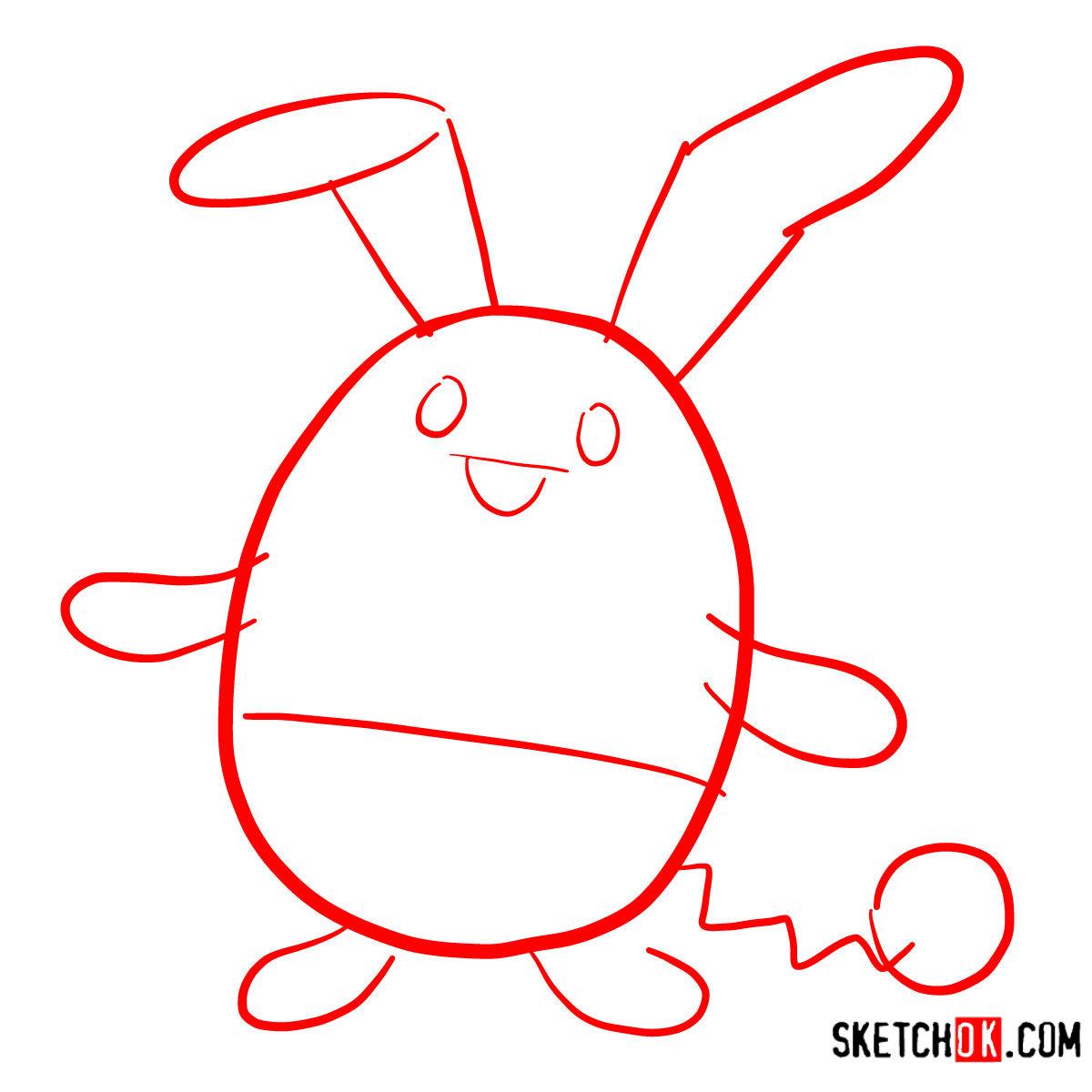 How to draw Azumarill   Pokemon - step 01