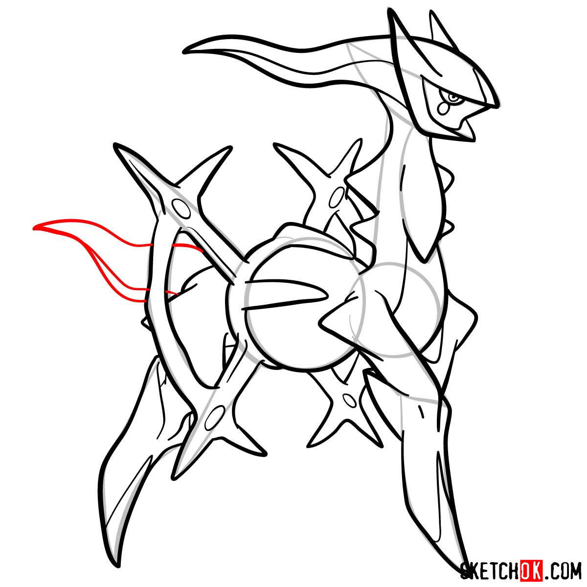 How to draw Arceus Pokemon - step 16