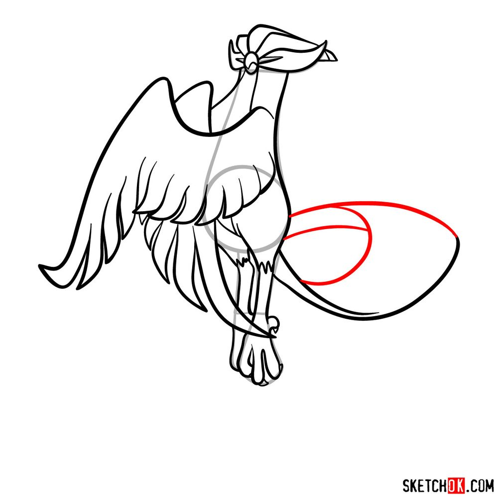 How to draw Articuno (Galarian Form) - step 15