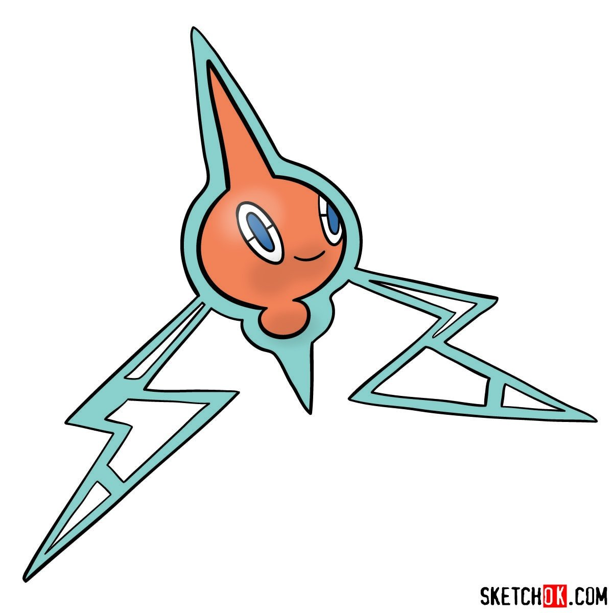 How to draw Rotom | Pokemon - coloring