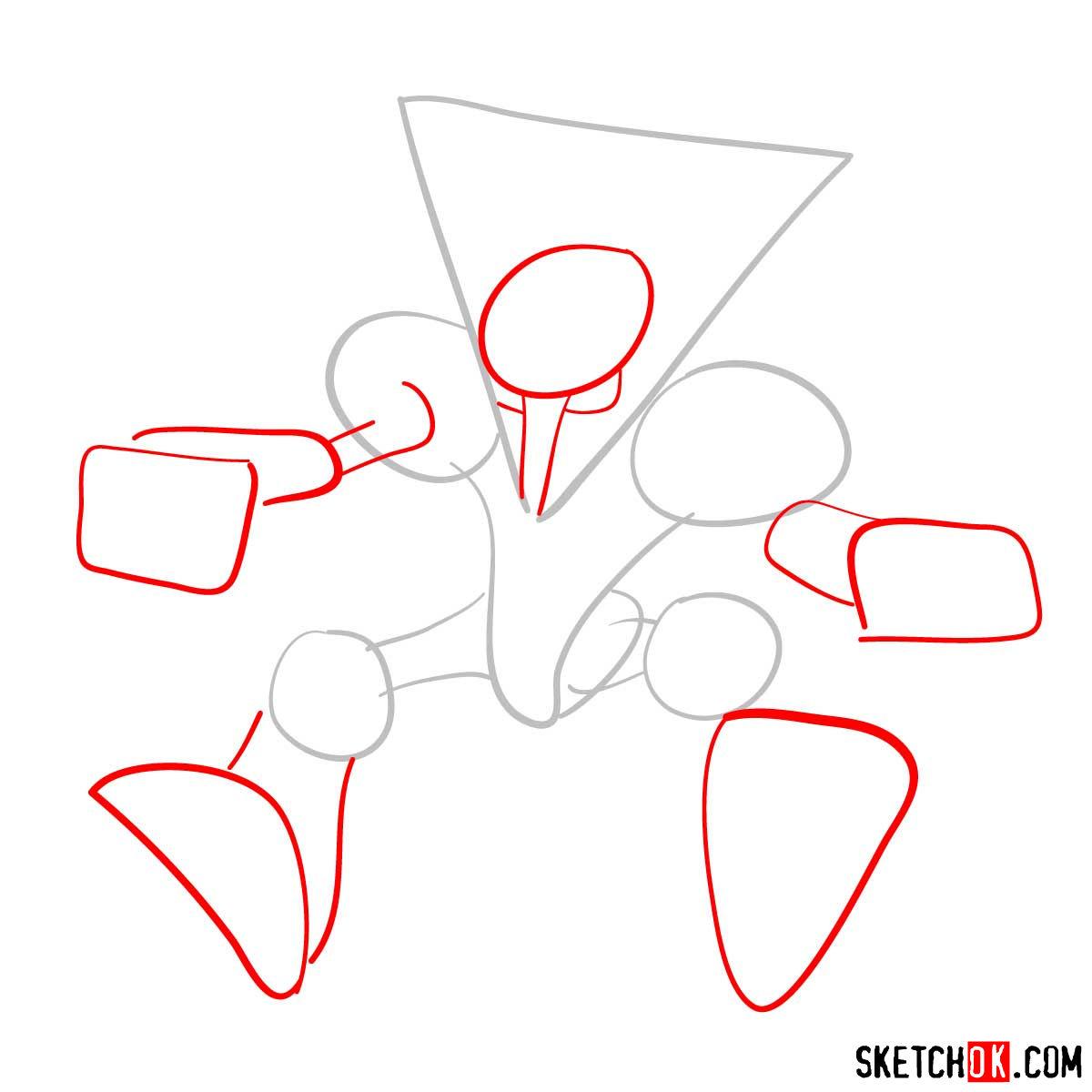 How to draw Alakazam | Pokemon - step 02