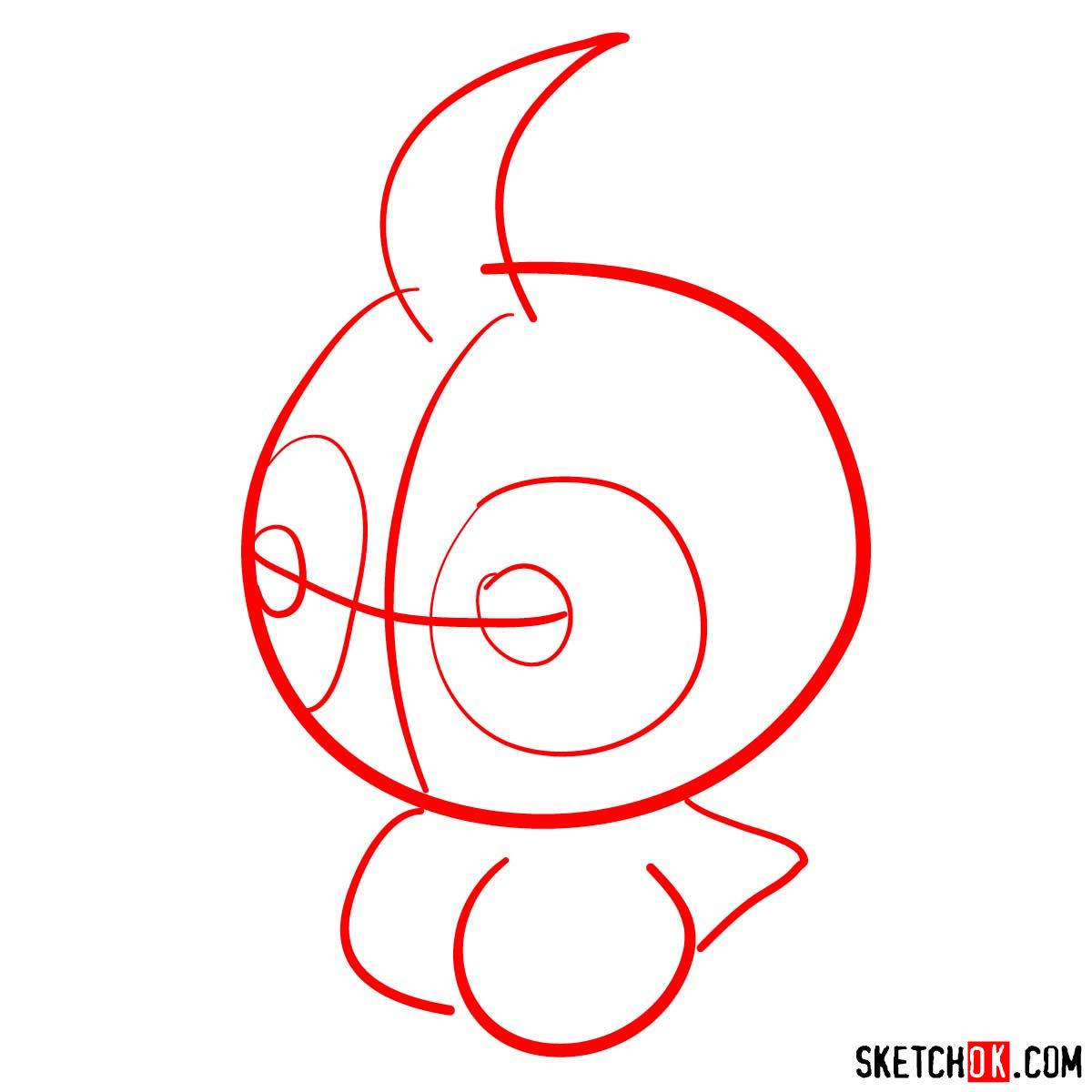 How to draw Castform   Pokemon - step 01