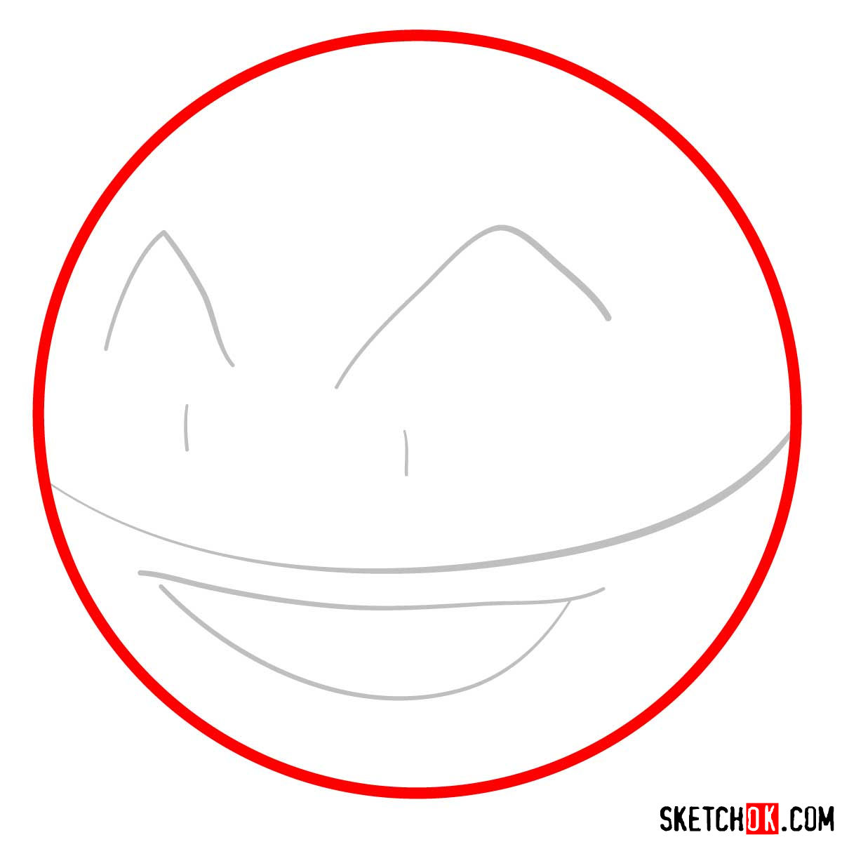 How to draw Electrode | Pokemon - step 02