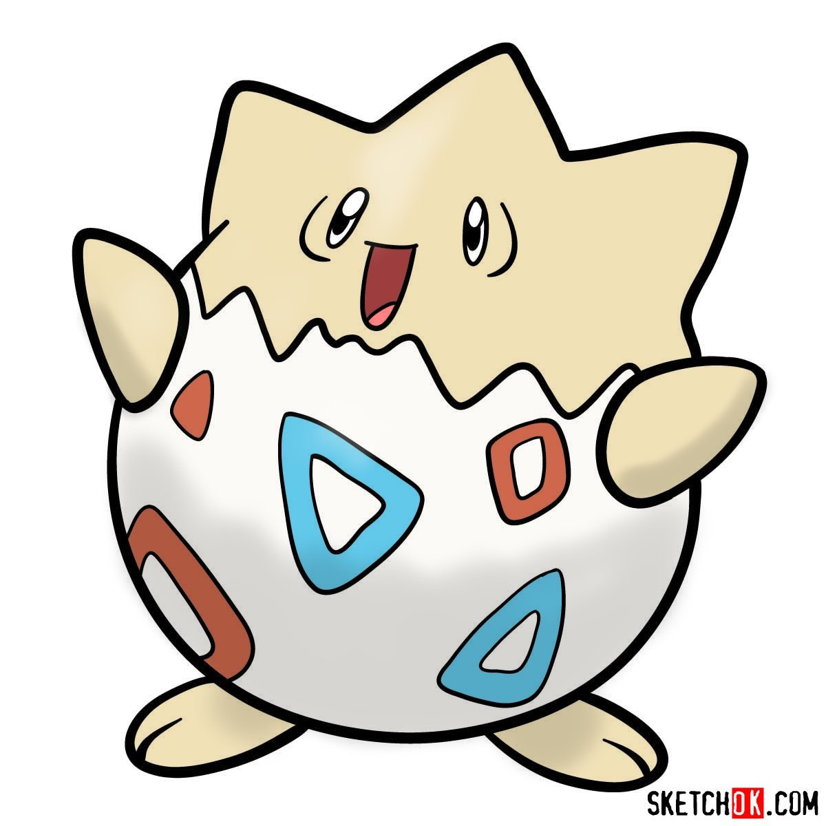 How to draw Togepi | Pokemon