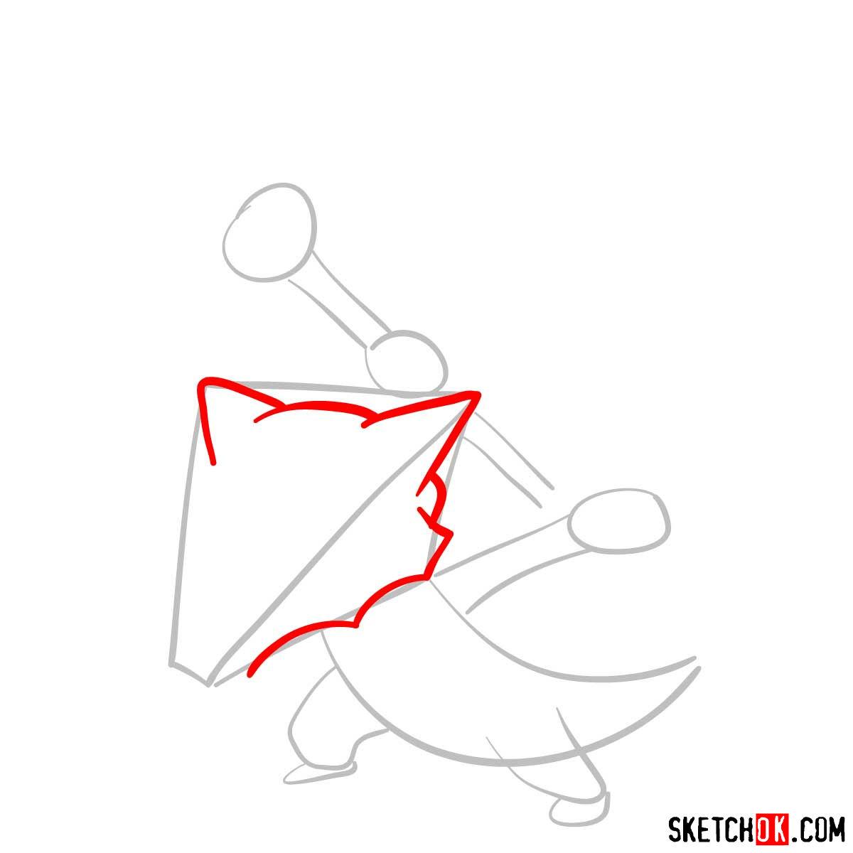 How to draw Marowak pokemon - step 03