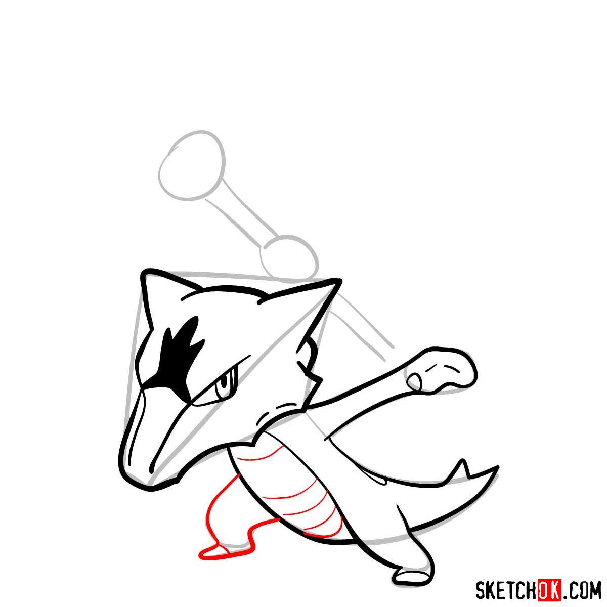 How to draw Marowak pokemon - step 09