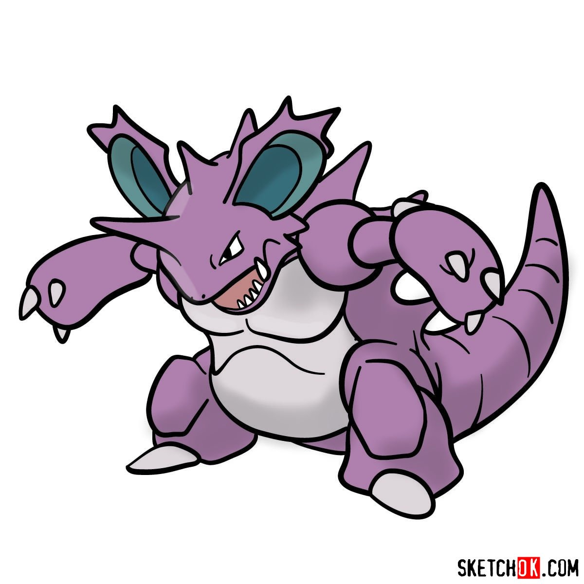 How to draw Nidoking Pokemon