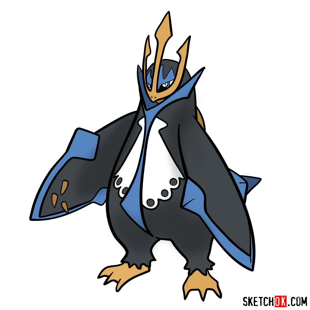 How to draw Empoleon Pokemon