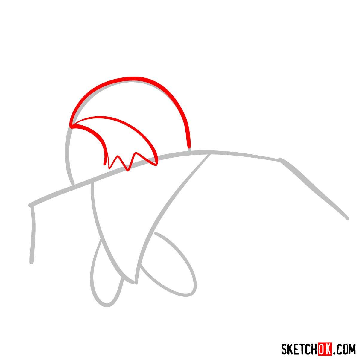 How to draw Hawlucha Pokemon - step 02