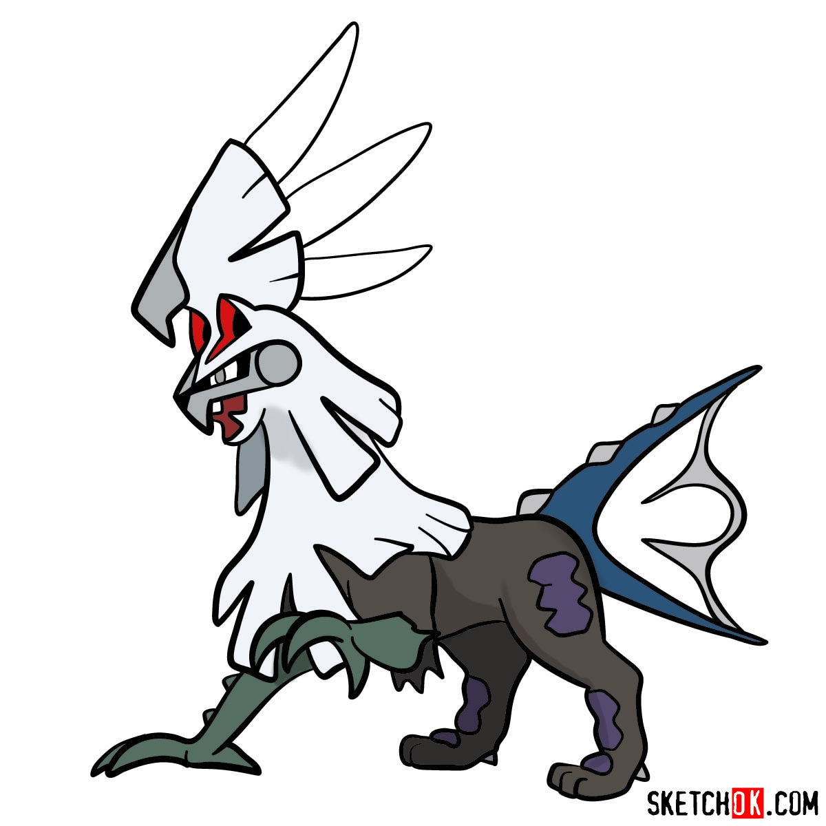 How to draw Silvally Pokemon