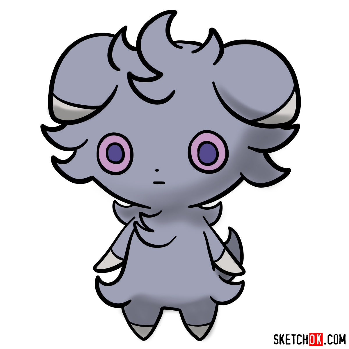 How to draw Espurr Pokemon