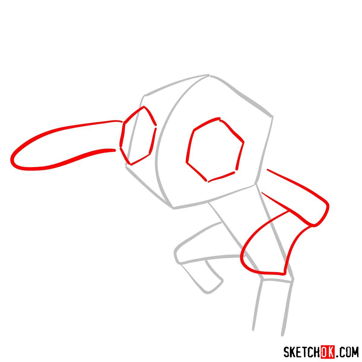 How to draw Sableye Pokemon - step 02