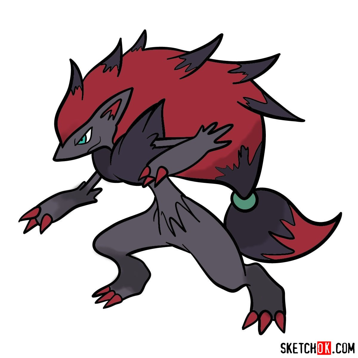 How to draw Zoroark Pokemon